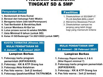 PROGRAM BEASISWA TINGKAT SD & SMP